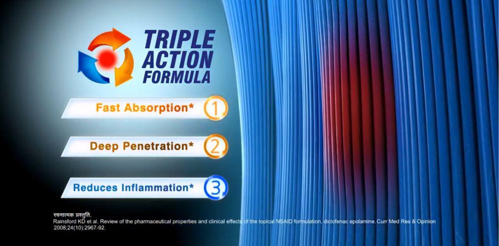 Voltaren Triple Action Formula
